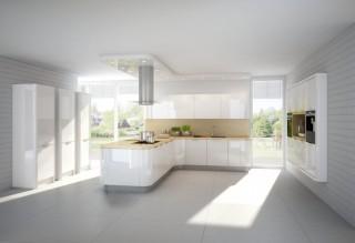 Kuchyně NOLTE Nova Lack 731 Bílá vysoký lesk