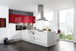Kuchyně NOLTE Trend Lack 41R/411 Rosso vysoký lesk/Bílá vysoký lesk