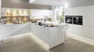 Kuchyně NOLTE Alpha Lack 551 Bílá vysoký lesk